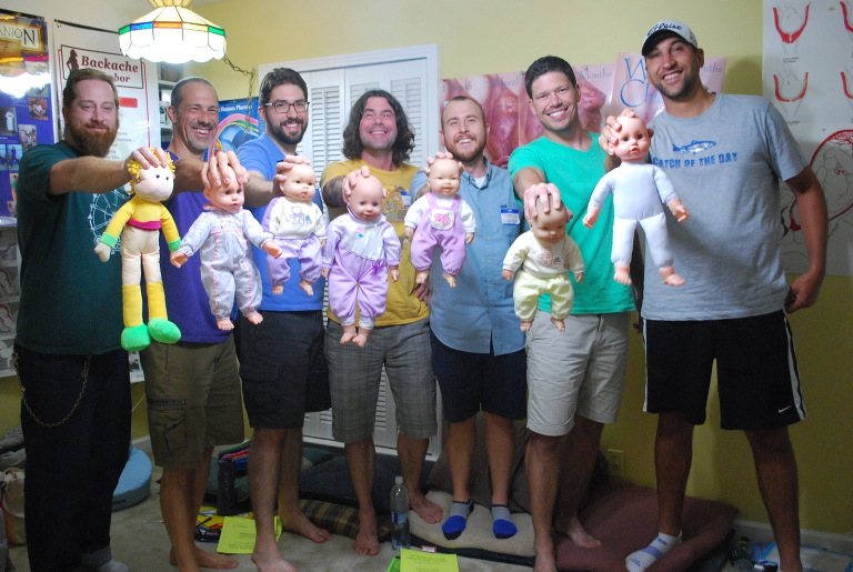 dads with dolls baby delivery training